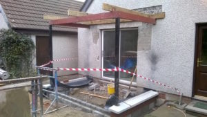 Ferguson - work on the garden room